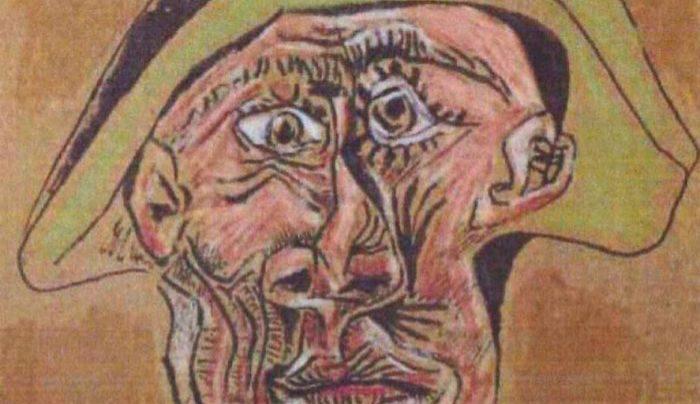 Tete d'Arlequin, Picasso