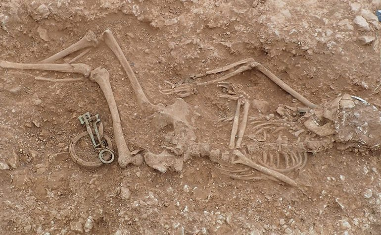 Skeleton at discovered at Lincolnshire