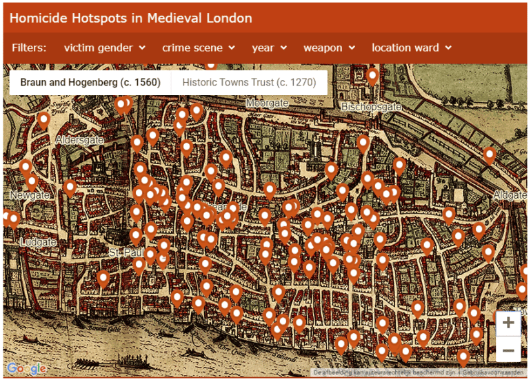 Homicide Hotspots in Medieval London