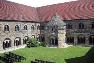 Cloister of the monastery Unser Lieben Frauen in Magdeburg, Germany