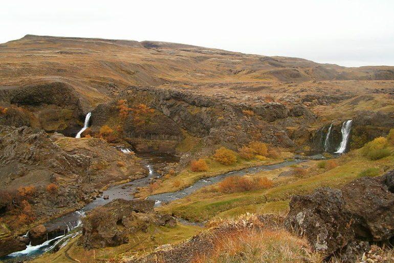 Gjáin, valle di Þjórsárdalur, Islanda