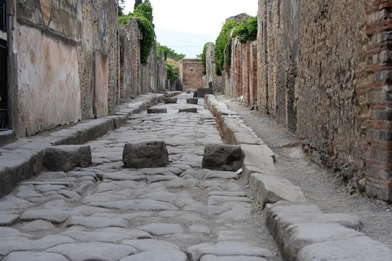 Pompeii street, Italy