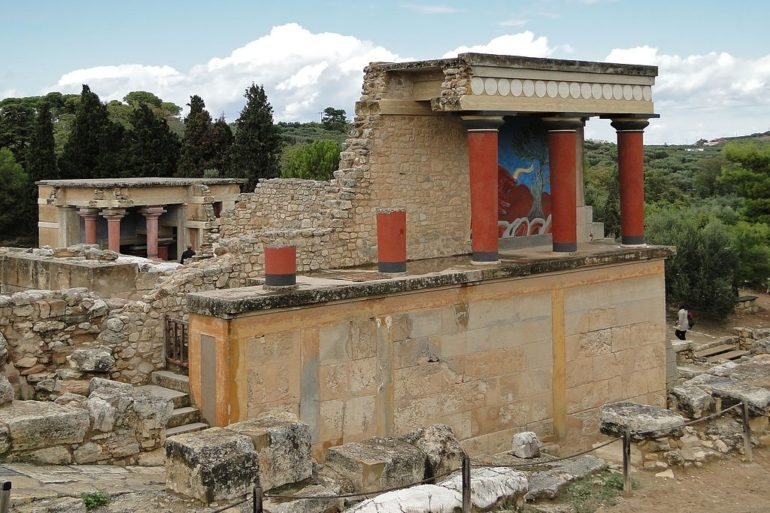 North Portico in Knossos, Crete, Greece