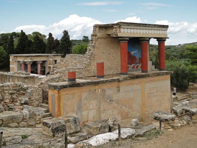 North Portico in Knossos, Crete, Greece