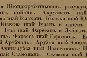 Translation of Matthew into the Finnic language Karelian (1820)