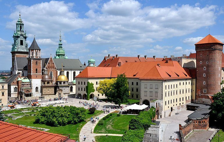 The Wawel Castle and Cathedral in Krakow, Poland