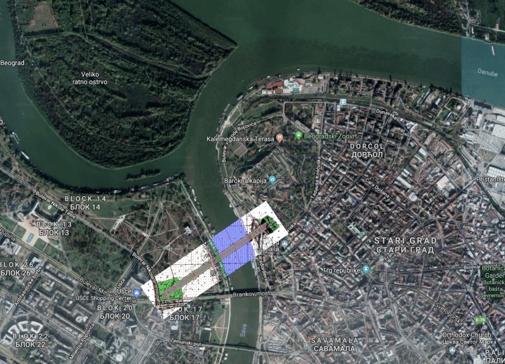 Gondola plans, Belgrade, Serbia