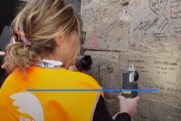 Graffiti removal with laser italy