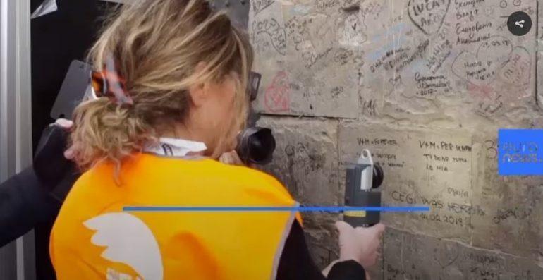 Graffiti verwijderen met laser Italië