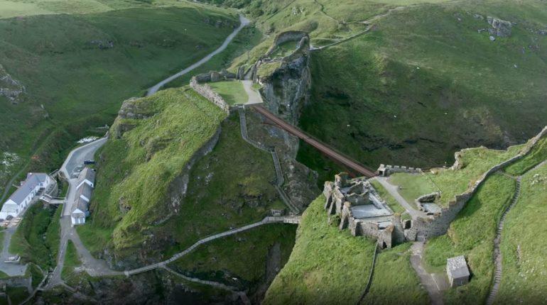 New bridge at Tintagel Castle