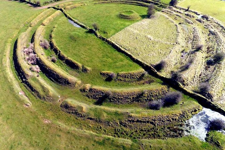 Multivallate Ringfort at Rathrá, Co Roscommon, Ireland.