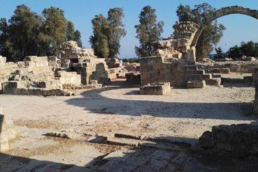 Saranda Colones castle in Paphos, Cyprus
