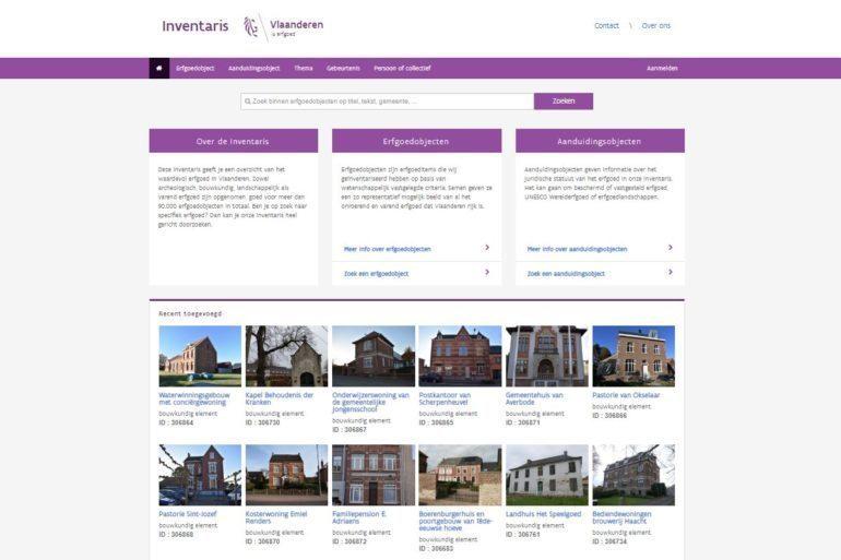 Inventaris Onroerend Erfgoed database