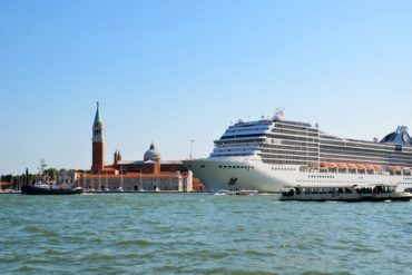 Cruise ships in Venice, Italy