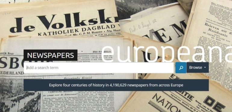 Europeana Newspapers search