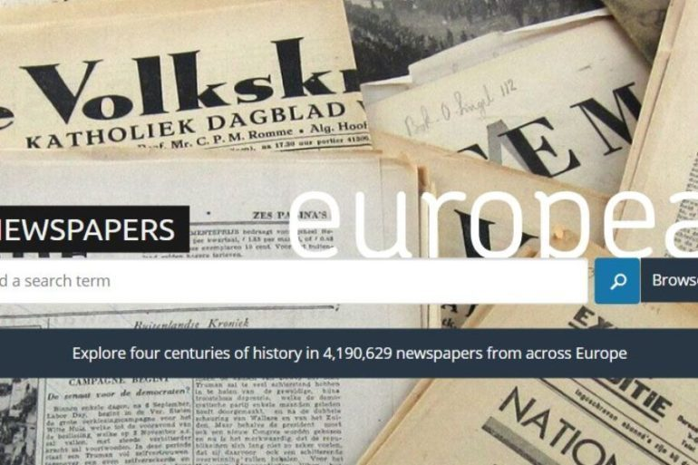 Europeana Newspapers search