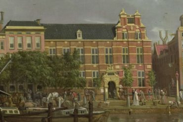 The Latin school on the Singel, Amsterdam - I. Smies 1802 Rijksmuseum Netherlands