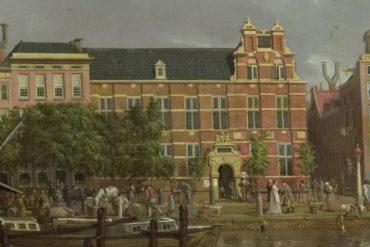 The Latin school on the Singel, Amsterdam - I. Smies 1802 Rijksmuseum Netherlands