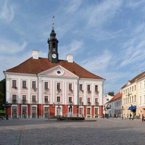 The town hall in Tartu, Estonia