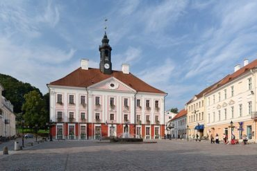 The town hall in Tartu, Estonia