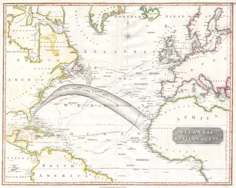 Map of the Atlantic Ocean (1814)