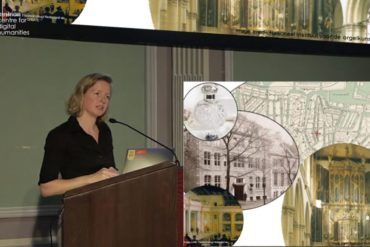 Marieke van Erp during her lecture at the Austrian Centre for Digital Humanities