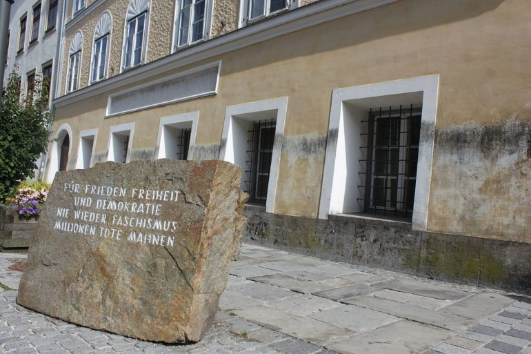 Hitler's Birth Place in Braunau am Inn, Austria