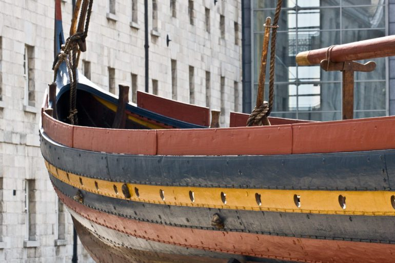 "The Viking Warship ""Sea Stallion"". Reconstruction of a boat built near Dublin around 1042."