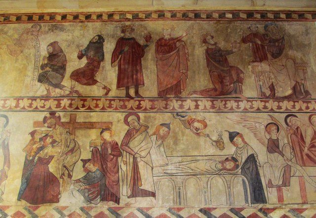 St Agatha's Church wall paintings, North Yorkshire, United Kingdom