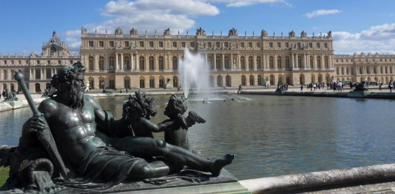 West side of the palace of Versailles.