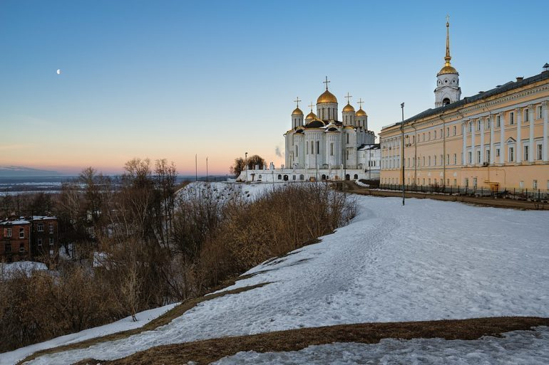Assumption Cathedral in winter.