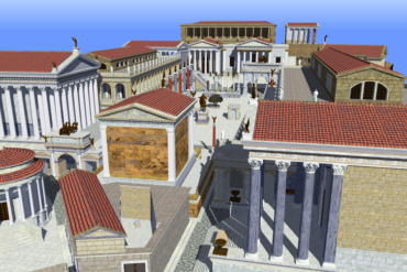 A 3D model of ancient Rome.
