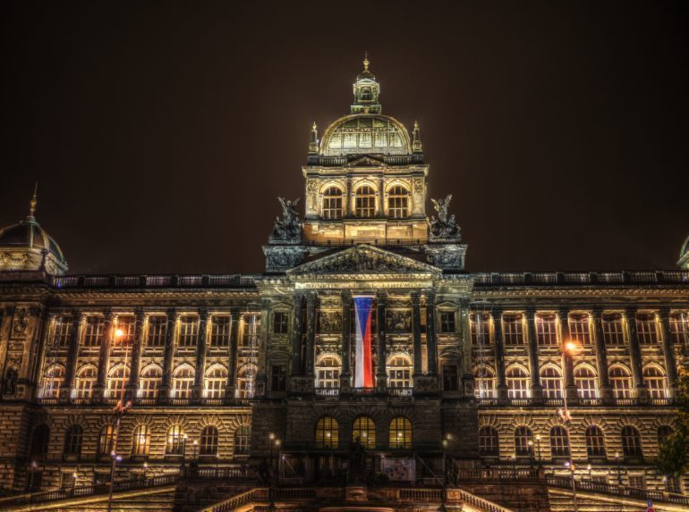 Some parts of the National Museum were shot at night so virtual visitors can see what this dominant feature of Wenceslas Square looks like after dusk.