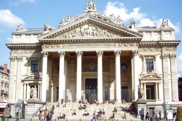 The Bourse Stock Exchange Building was completed in 1870.