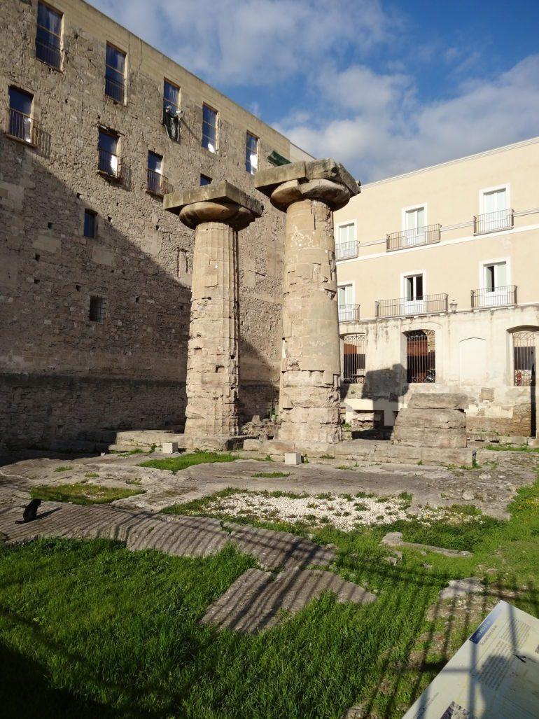 Doric Columns in the temple of Poseidon in Taranto