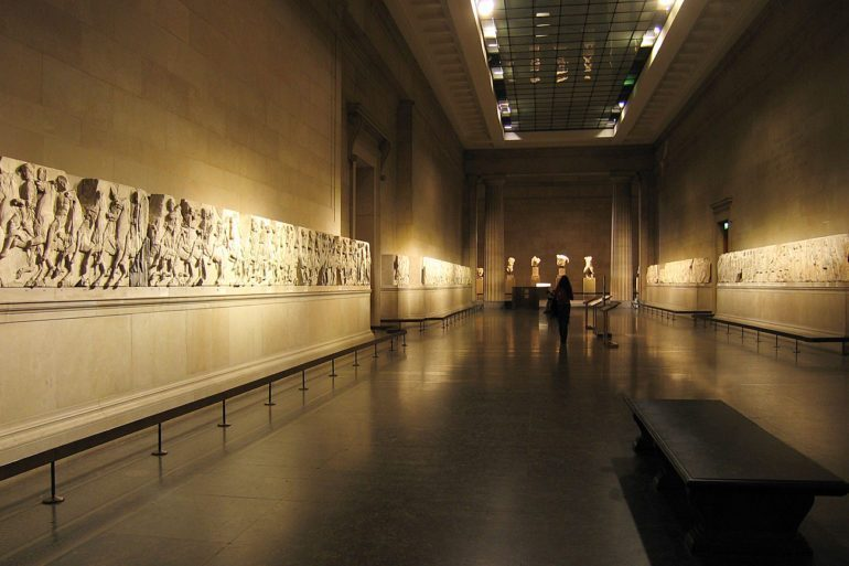 The Sculptures are also called the Elgin Marbles, named after the British Diplomat who acquired them for the British Museum.