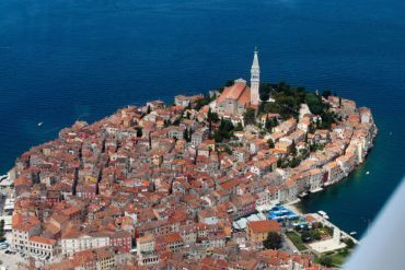 The town of Rovinj is a major attraction.