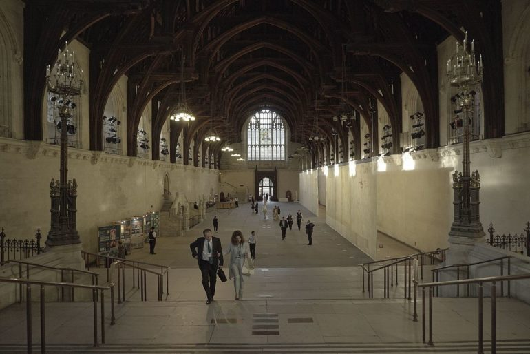 "Present day Westminster Hall. ""... the palace no doubt still has many more secrets to give up,"" says Dr. Collins."