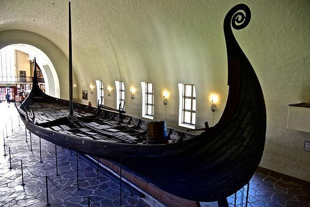 The magnificent Oseberg ship Viking Ship Museum in Oslo, Norway.