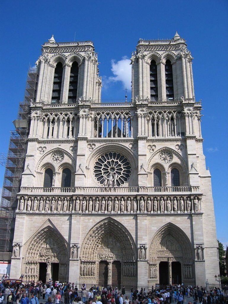 Engineers now monitor Notre Dame with laser monitoring systems for any structural movements to predicate collapse of the Gothic masterpiece.