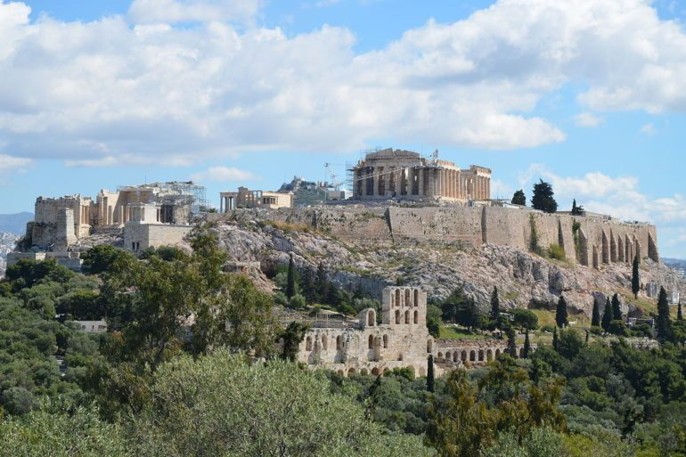 A view of Acropolis of Athens.