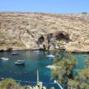 Xlendi Bay in Gozo, Malta.