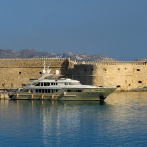 The famous old port at Heraklion.