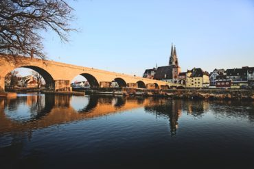 Regensburg is a town in Bavaria well known for its well preserved medieval city centre.
