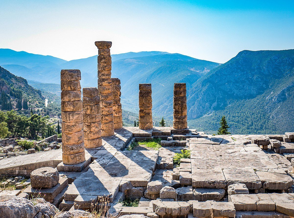 Temple of Apollo at Delphi is one of the sites you can now visit.