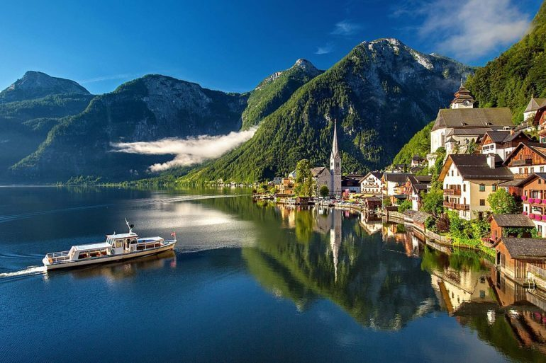 Hallstatt in Summer. Austria has been in the lockdown for 6 weeks now.