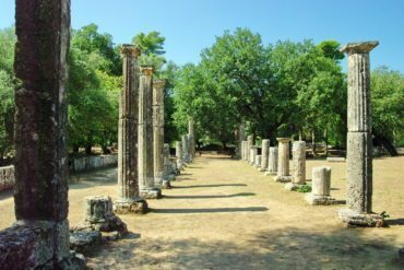 Palaestra, a place for the training of wrestlers, at Olympia.