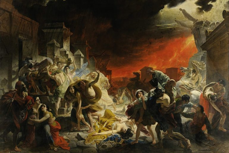 """The Last Day of Pompeii"" by Karl Bryullov."