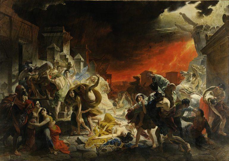 """""""The Last Day of Pompeii"""" by Karl Bryullov."""