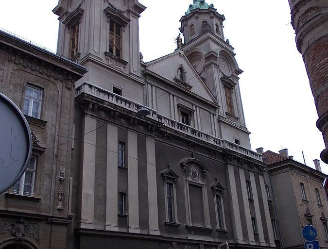 Sacred Heart of Jesus Basilica in Zagreb is one of the most iconic buildings filled with rubbles after destruction by the earthquake.